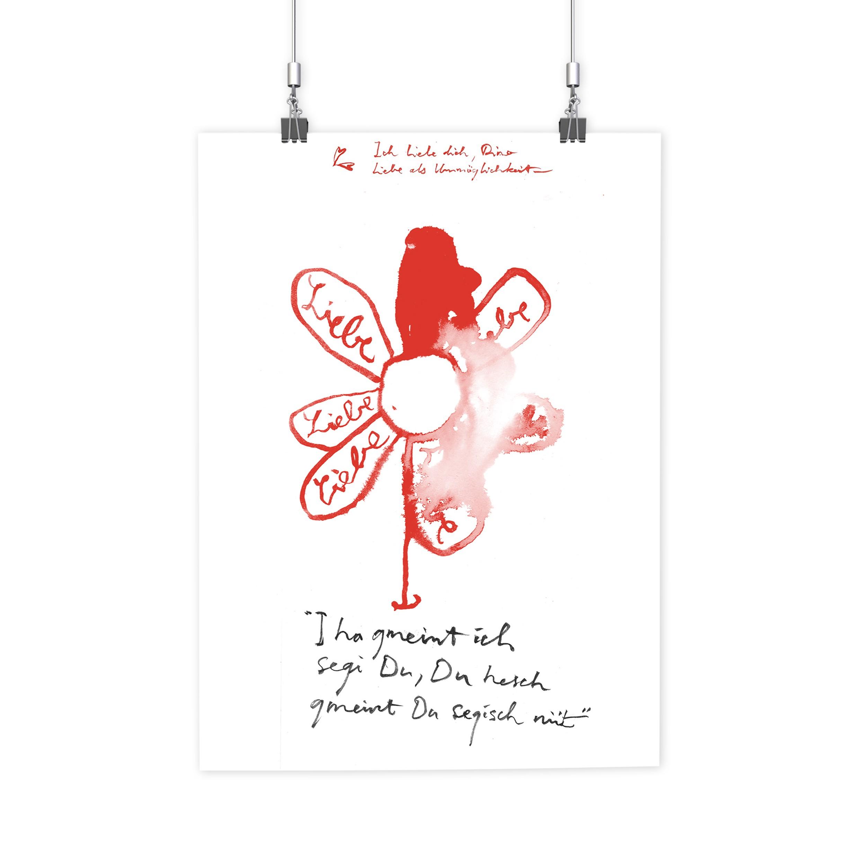 BRANDÃO FABER HUNGER – Poster Ich liebe Dich Flower