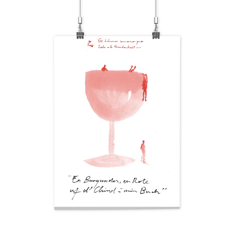 BRANDÃO FABER HUNGER – Poster Ich liebe Dich Red Glass